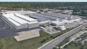 This rendering is of the new Mack Avenue Assembly Complex, once FCA invests $1.6 billion to convert the two plants into the future assembly site for the next-generation Jeep Grand Cherokee, as well as an all-new three-row full-size Jeep SUV and plug-in hybrid (PHEV) models, adding 3,850 new jobs to support production.