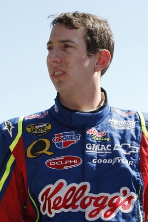 Kyle Busch is pictured in 2007 during his time at Hendrick Motorsports, where he raced the first few years of his Cup career before moving to Joe Gibbs Racing.